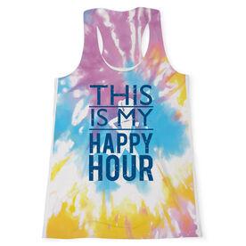 Women's Performance Tank Top - This Is My Happy Hour Tie-Dye