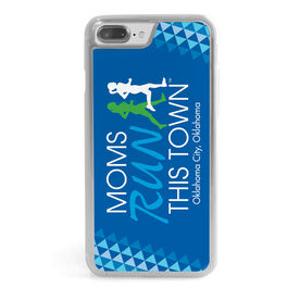 Running iPhone® Case - Moms Run This Town Stacked