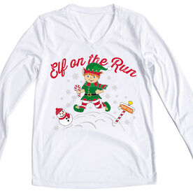 Women's Long Sleeve Tech Tee Elf On The Run