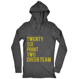 Women's Running Lightweight Performance Hoodie Twenty Six Point Two Cheer Team