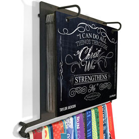 BibFOLIO+™ Race Bib and Medal Display - I Can Do All Things Through Christ Chalkboard