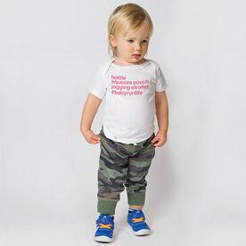 Running Baby T-Shirt - Bottle Squeeze Pouch Jogging Stroller