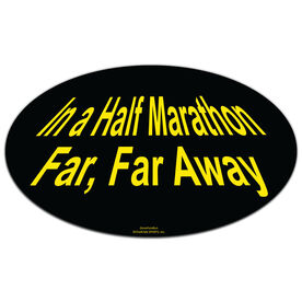 In a Half Marathon Oval Car Magnet