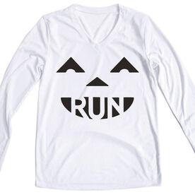 Women's Running Long Sleeve Tech Tee Pumpkin Run