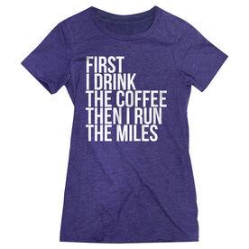 Women's Everyday Runners Tee - Then I Run The Miles MRTT