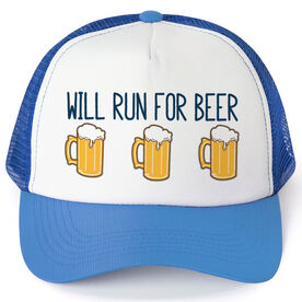 Running Trucker Hat - Will Run For Beer