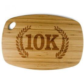Rectangle Laser Engraved Bamboo Cutting Board 10K Vine Crest