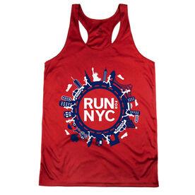 Women's Racerback Performance Tank Top - Run For NYC