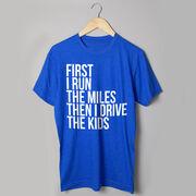 Running Short Sleeve T-Shirt - Then I Drive The Kids