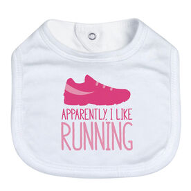Running Baby Bib - Apparently, I Like Running