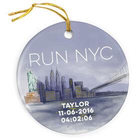 Running Porcelain Ornament - New York City Sketch