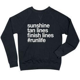 Running Raglan Crew Neck Sweatshirt - Sunshine Tan Lines Finish Lines