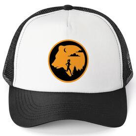 Running Trucker Hat - Bear Emblem Female Runner