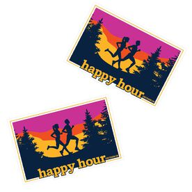 Running Stickers - Happy Hour (Set of 2)