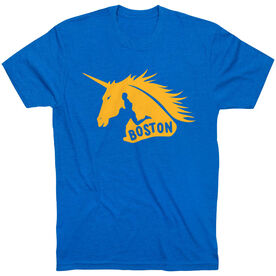 Running Short Sleeve T-Shirt - Boston Spirit - Runner Guy
