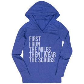 Women's Running Lightweight Performance Hoodie - Then I Wear The Scrubs