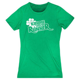 Women's Everyday Tee Kiss Me I'm A Runner (Distressed)