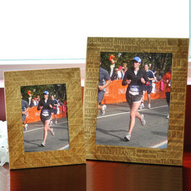 Bamboo Engraved Picture Frame Inspiration Words Female