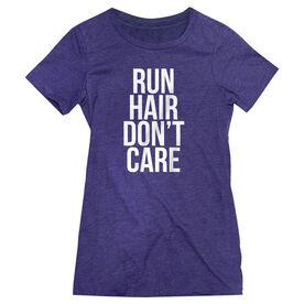 Women's Everyday Runners Tee - Run Hair Don't Care