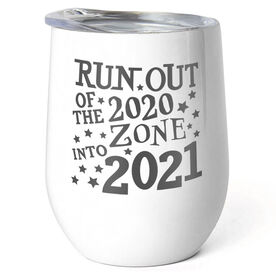Running Stainless Steel Wine Tumbler - Run Out Of The 2020 Zone Into 2021