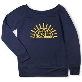 Running Fleece Wide Neck Sweatshirt - Live In The RunShine