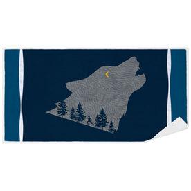 Running Premium Beach Towel - Run Wild Wolf