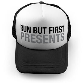 Running Trucker Hat - Run But First Presents