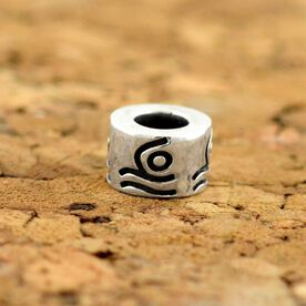 Sterling Silver Swimmer Large Hole Bead