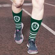Running Printed Mid-Calf Socks - Pacific Northwest Ladies Running Group Logo