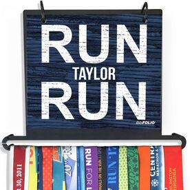 BibFOLIO Plus Race Bib and Medal Display Run Name Run (Rustic)