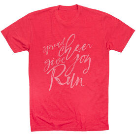 Running Short Sleeve T-Shirt - Spread Cheer Give Joy Run