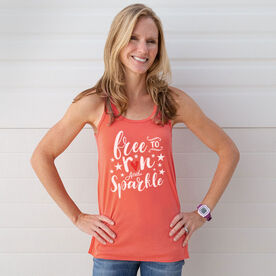Running Flowy Racerback Tank Top - Free To Run And Sparkle