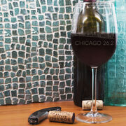 Running Wine Glass - Chicago Sketch