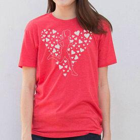 Running Short Sleeve T-Shirt - Love 2 Run Heart