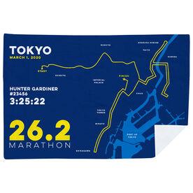 Running Premium Blanket - Personalized Tokyo Map