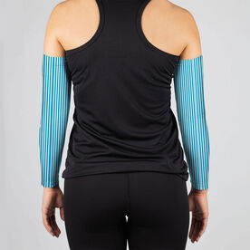 Running Printed Arm Sleeves - Run Now Wine Later