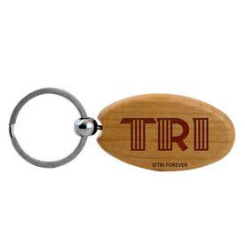 TRI Letters Maple Key Chain
