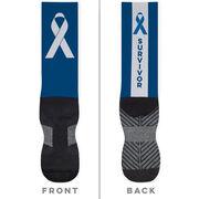 Running Printed Mid-Calf Socks - Survivor