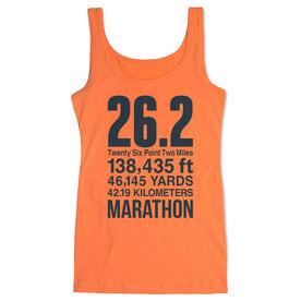 Running Women's Athletic Tank Top - 26.2 Math Miles