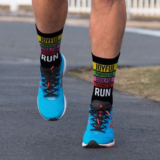 Running Printed Mid-Calf Socks - Run Mantra (Run)