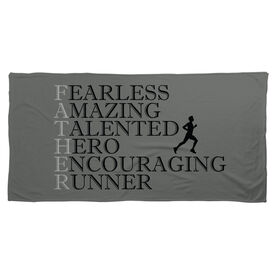 Running Beach Towel - Father Words