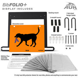 BibFOLIO+™ Race Bib and Medal Display Rex The Running Dog