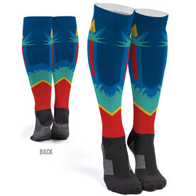 Running Printed Knee-High Socks - Liberty