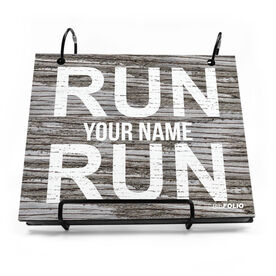 BibFOLIO® Race Bib Album - Run Your Name Run Rustic