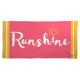 Running Beach Towel RunShine