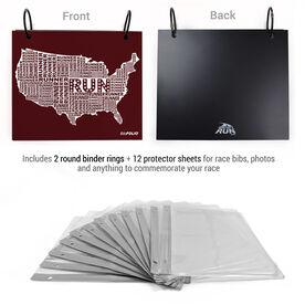 BibFOLIO® Race Bib Album - White USA Runner