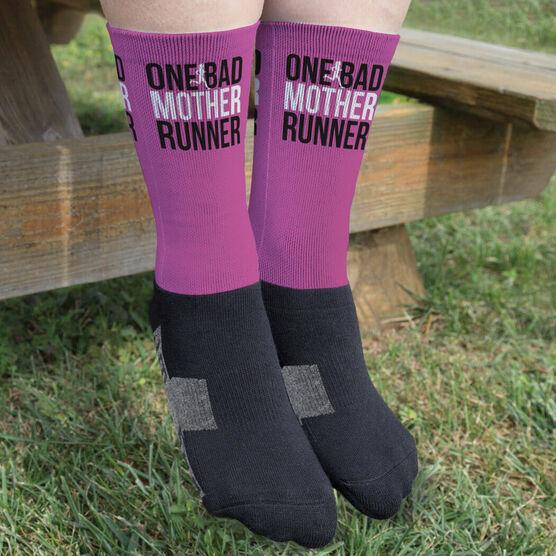 Running Printed Mid-Calf Socks - One Bad Mother Runner