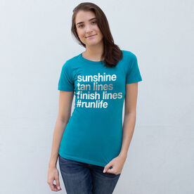 Women's Everyday Runners Tee - Sunshine Tan Lines Finish Lines