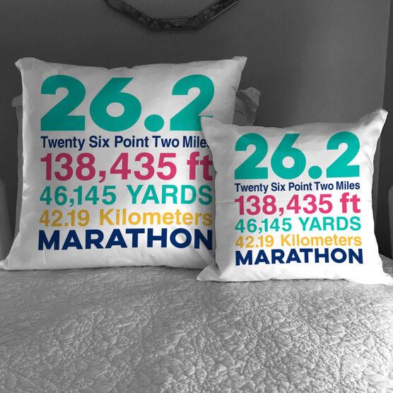 Running Decorative Pillow - 26.2 Math Miles
