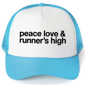Running Trucker Hat - Peace Love & Runner's High